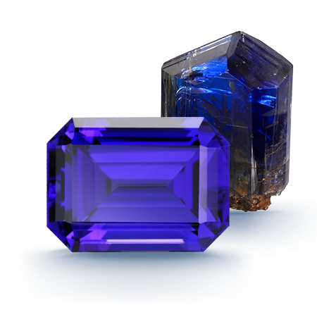 color mm stunning tanzanite blue intense cushion gemstone purple carats gem